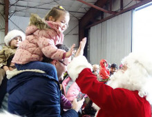 Santa-at-Princeton-Airport